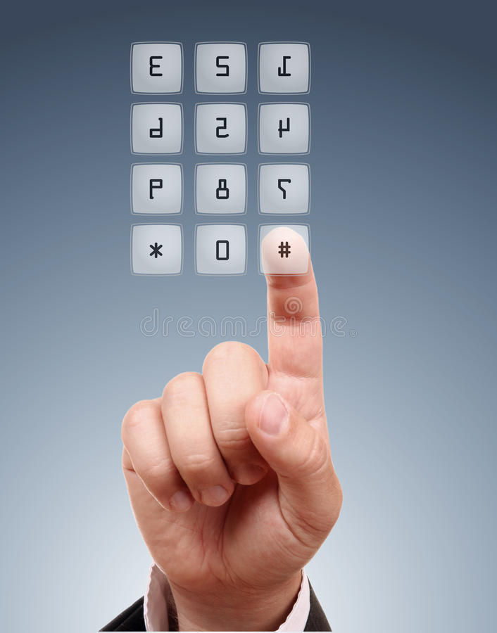 Download Male hand dial the number. stock image. Image of dial - 20654401