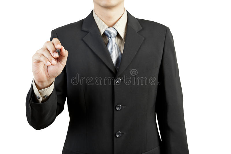 Male hand drawing royalty free stock images