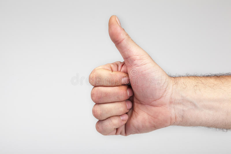 Male Hand Gesturing The Ok Sign Royalty Free Stock Photography