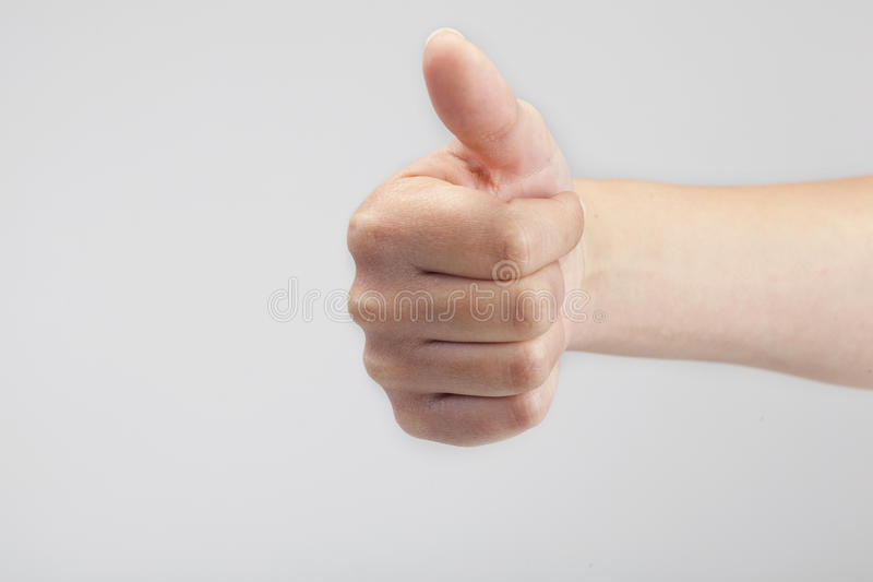 Male Hand Gesturing The Ok Sign Royalty Free Stock Images