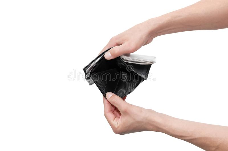 Wallet in hands. royalty free stock images
