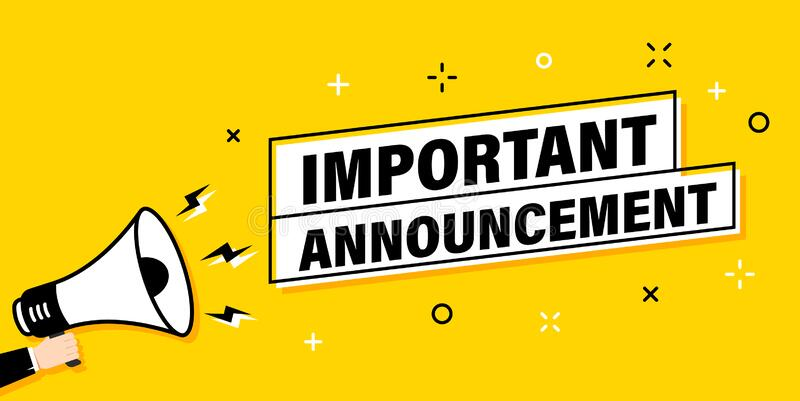 Announcement Important Stock Illustrations – 7,324 Announcement Important Stock Illustrations, Vectors & Clipart - Dreamstime