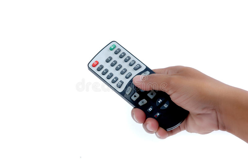 Download Male Hand Holding A Remote Controller Stock Photo - Image: 20143196