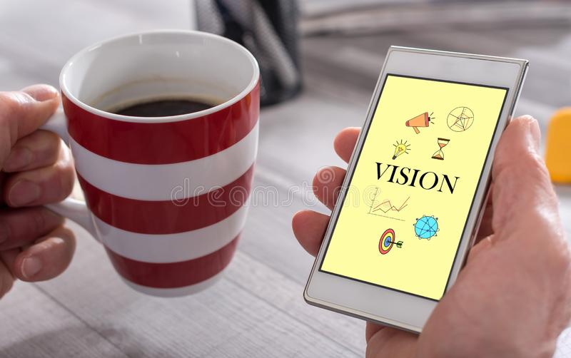 Vision concept on a smartphone stock photo