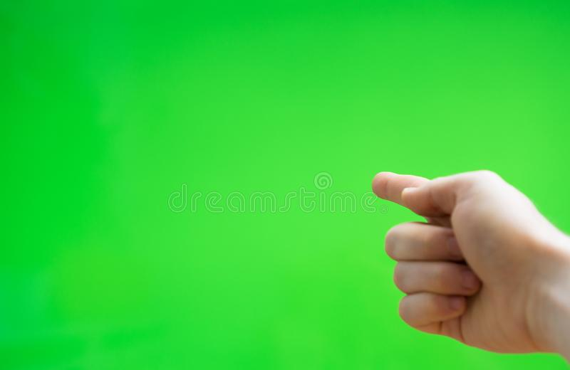 Male hand pointing to something. royalty free stock images