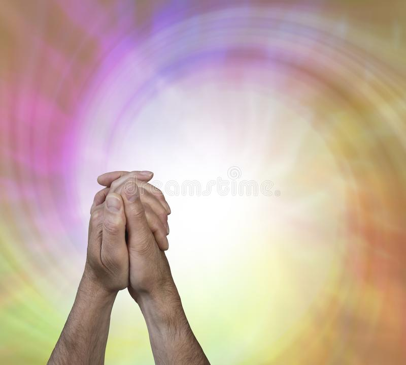 The power of prayer background royalty free stock photo