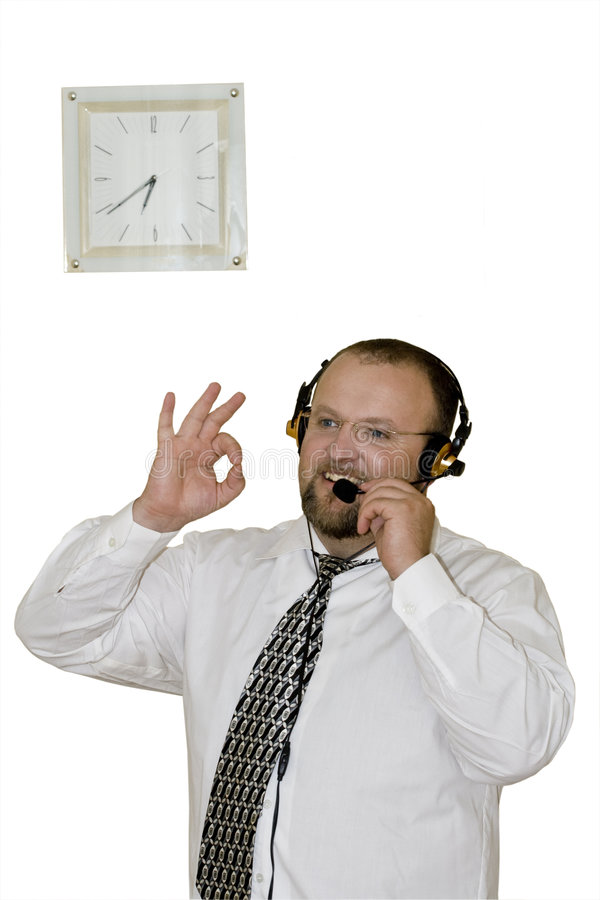 Free Male Having Conversation Over The Phone Royalty Free Stock Photo - 5887655