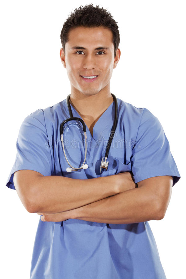 Download Male Healthcare Worker stock photo. Image of nurse, latin - 28908272