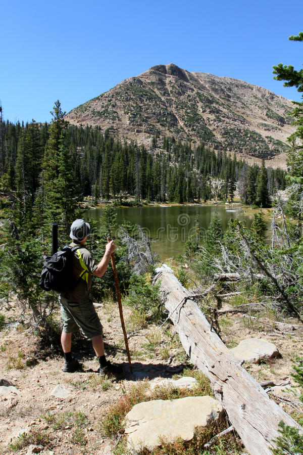 Download Male Hiker By River Stock Photography - Image: 26795892