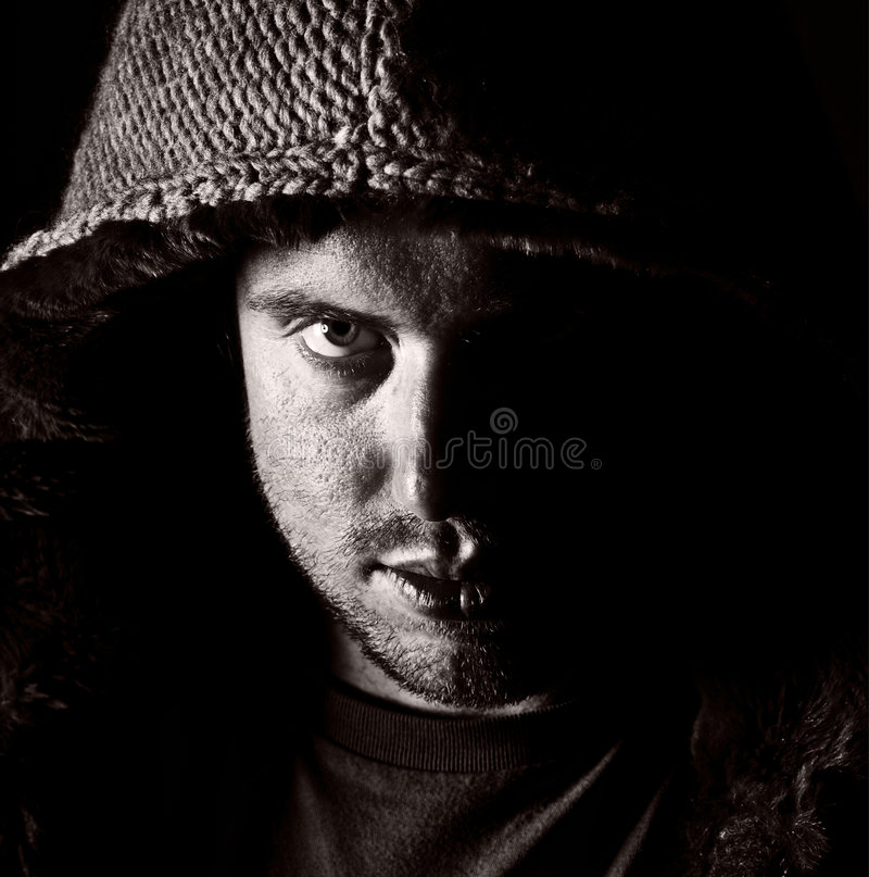 Male in Hooded Top royalty free stock photos