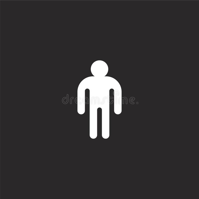 male icon. Filled male icon for website design and mobile, app development. male icon from filled gender identity collection royalty free illustration
