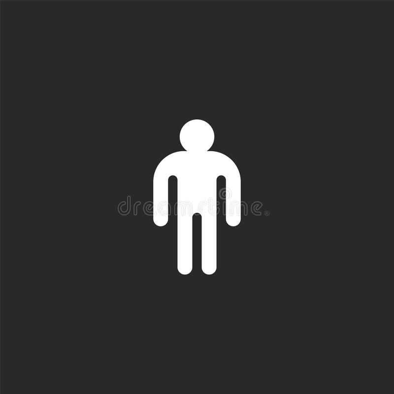 male icon. Filled male icon for website design and mobile, app development. male icon from filled gender identity collection stock illustration