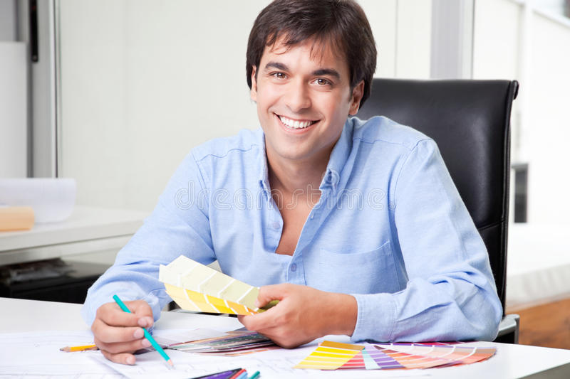 Male Interior Designer at Office royalty free stock photo