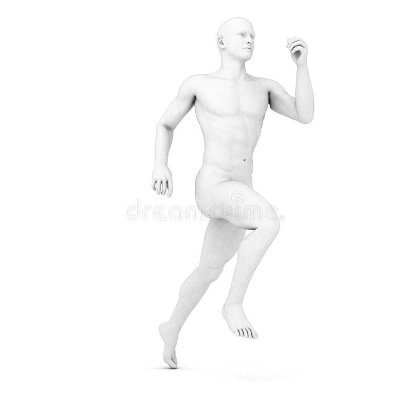 Male jogger. 3d rendered illustration of a male jogger in grey vector illustration