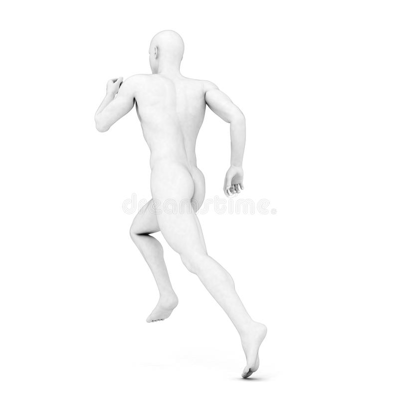 Male jogger. 3d rendered illustration of a male jogger in grey stock illustration
