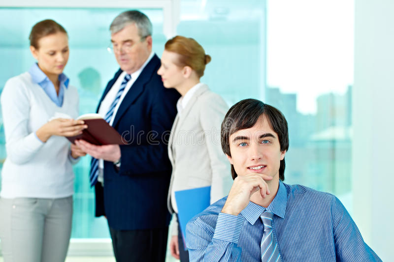 Download Male leader stock image. Image of leader, boss, businesspeople - 32730629
