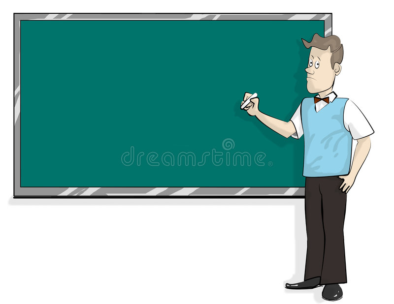 Male lecture vector illustration