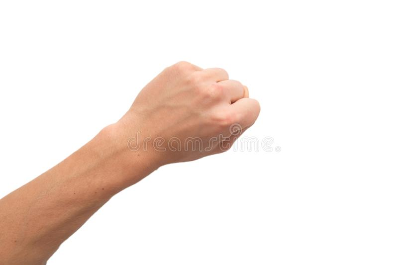 Male left hand counting isolated royalty free stock photos
