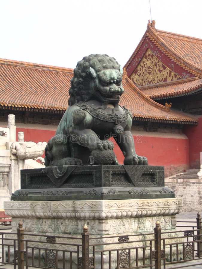 Download Male Lion (China) stock image. Image of lion, oriental - 164691