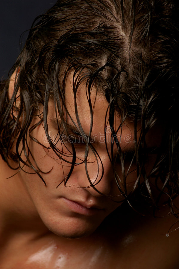 Download Male With Long Hair In Thought Stock Image - Image: 1175531