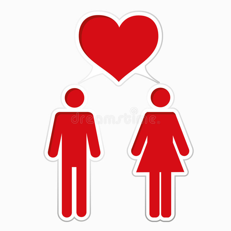 Download Male loving with female stock vector. Image of date, conceptual - 22191694