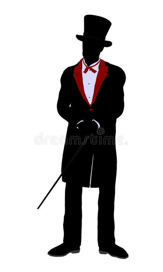 Male Magician Illustration Silhouette Royalty Free Stock Photography