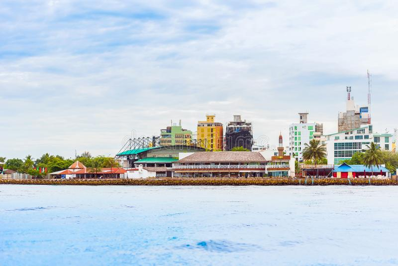 MALE, MALDIVES - NOVEMBER 18, 2016: View of the city of Male. MALE, MALDIVES - NOVEMBER 18, 2016: View of the city of Male - `the capital of the Maldives`. Copy stock photo