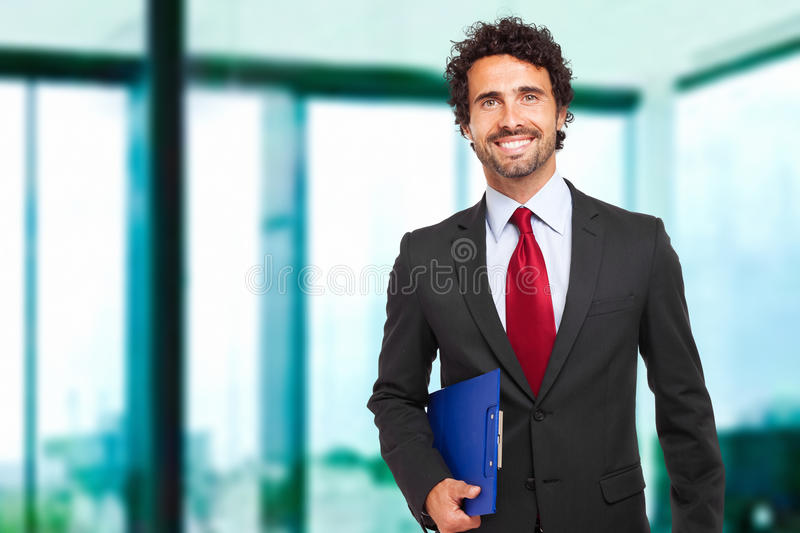 Male manager in his office stock photography
