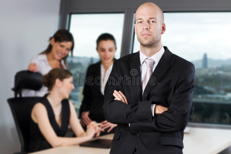 Male manager stock photography