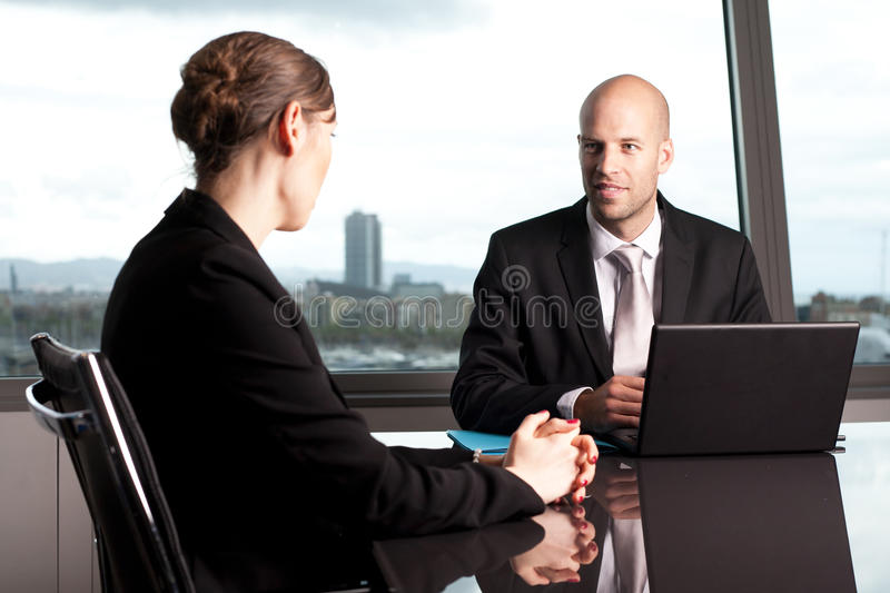 Male manager stock photo
