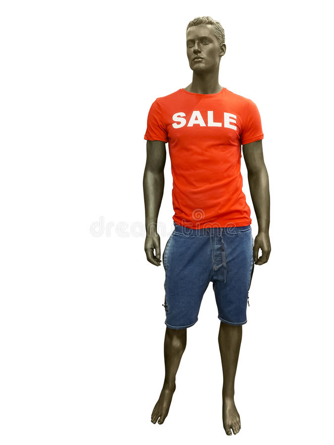 Male mannequin with sale t shirt stock photo image of for Name brand t shirts on sale
