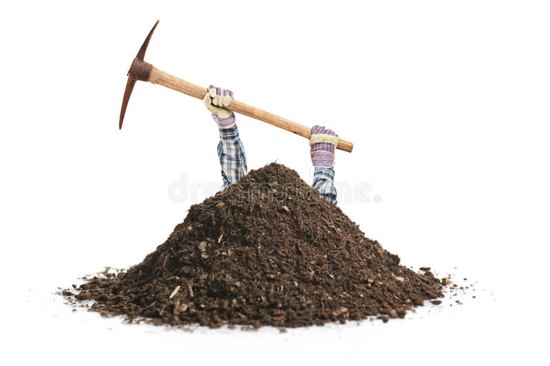 Male manual worker digging a hole stock image image of for Digging ground dream meaning