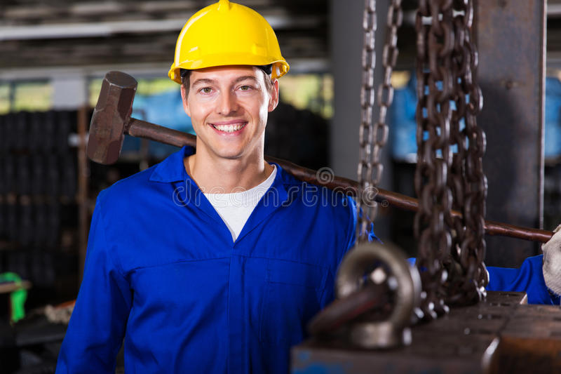 Male manual worker stock photography