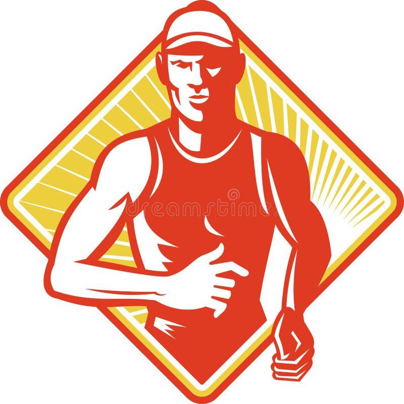 Download Male Marathon Runner Running Retro Stock Vector - Image: 23721832