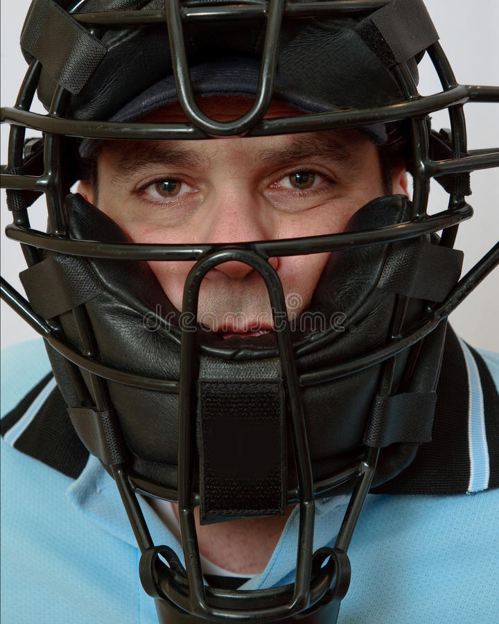 Male Model in Baseball Mask royalty free stock photography