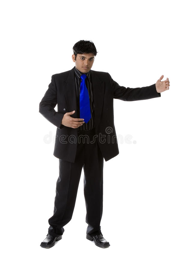 Male Model in business suit royalty free stock image
