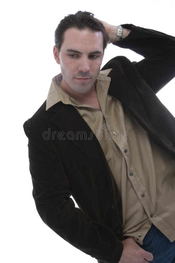 Male model in Casual clothes stock image
