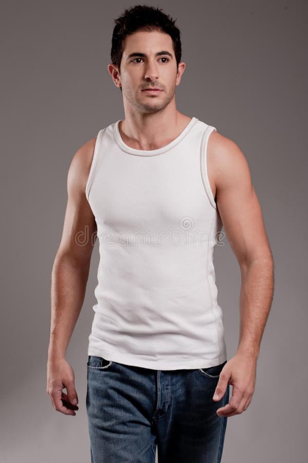 Male model half length shot stock photography