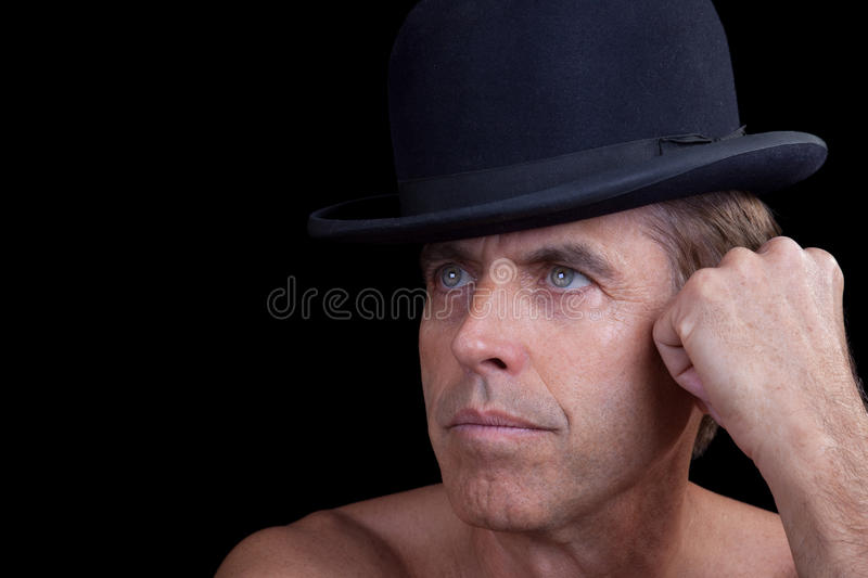 Download Male Model in a Hat stock photo. Image of colorful, isolation - 20702194