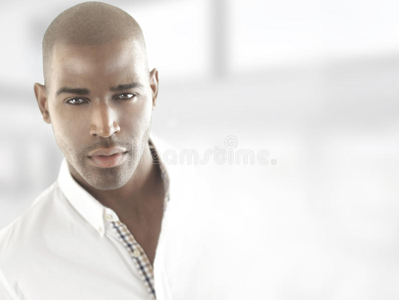 Male model head royalty free stock photos