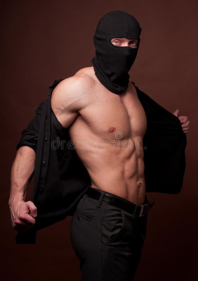 Free Male Model In A Mask Royalty Free Stock Image - 24462906