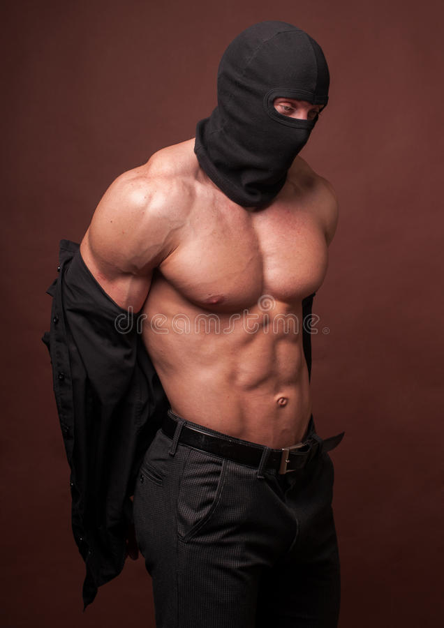 Free Male Model In A Mask Royalty Free Stock Image - 24462926