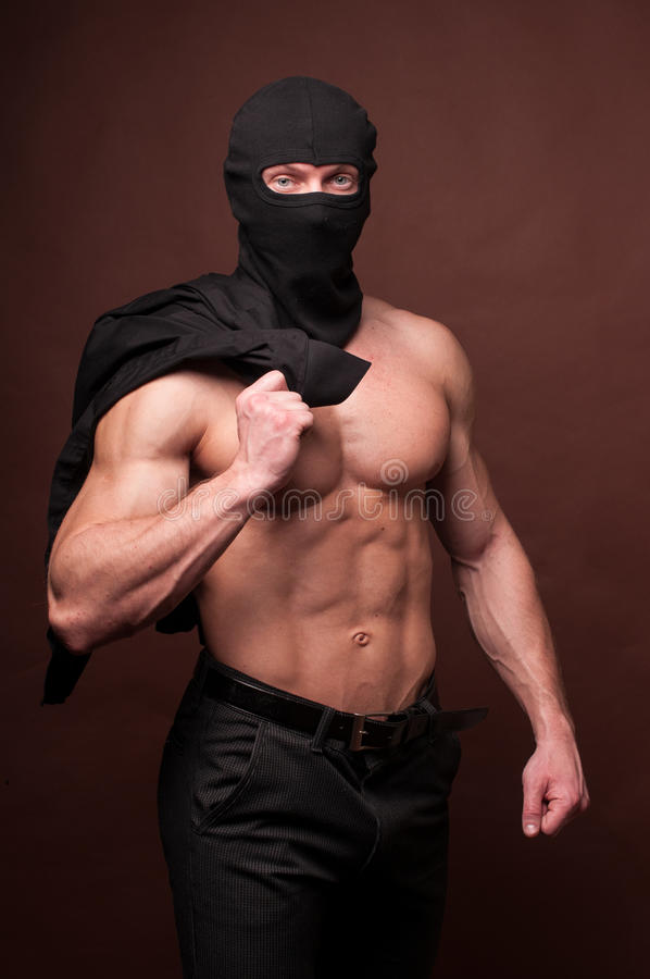 Free Male Model In A Mask Royalty Free Stock Image - 24462946