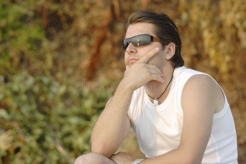 Male model posing royalty free stock image