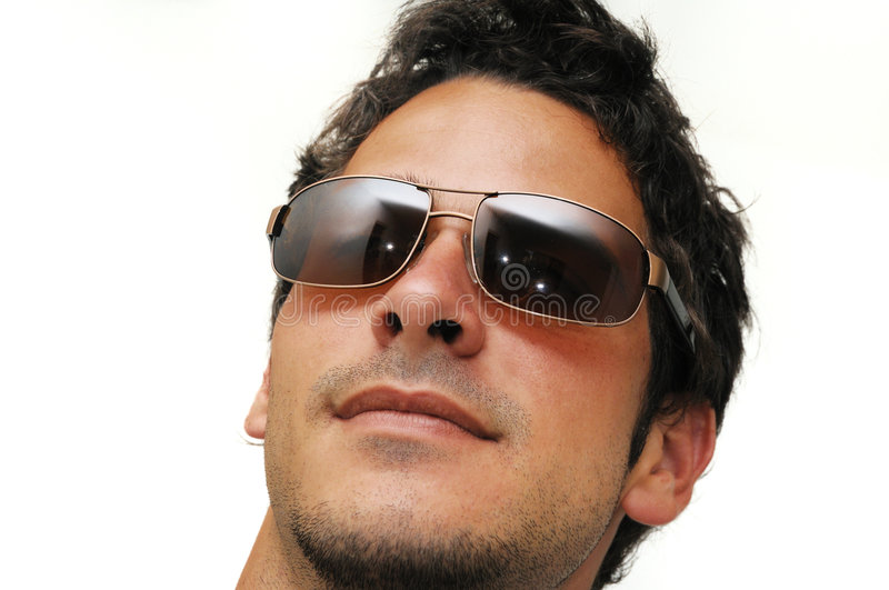 Male model with sunglasses royalty free stock photo