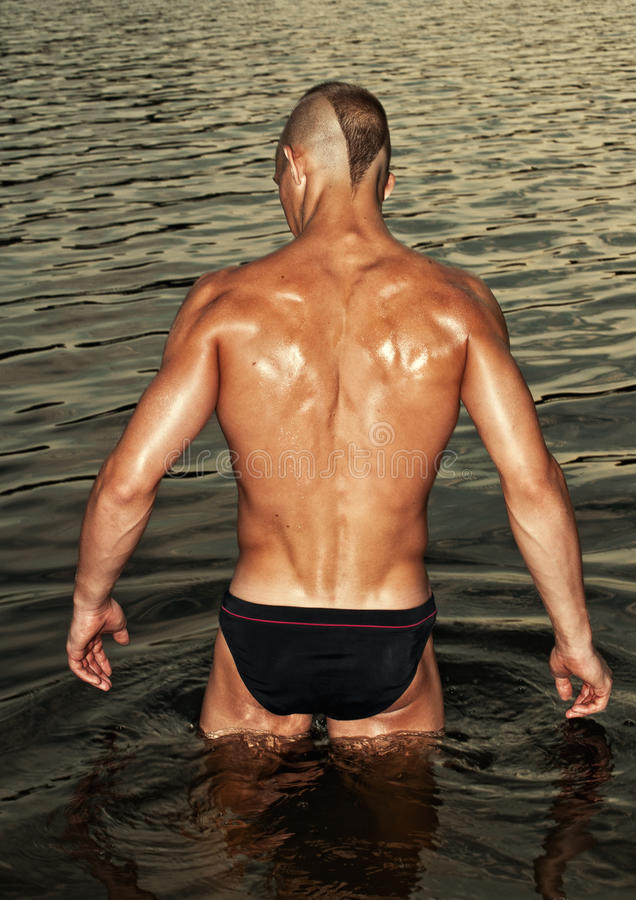 Download Male model in the water stock photo. Image of muscle - 31148554