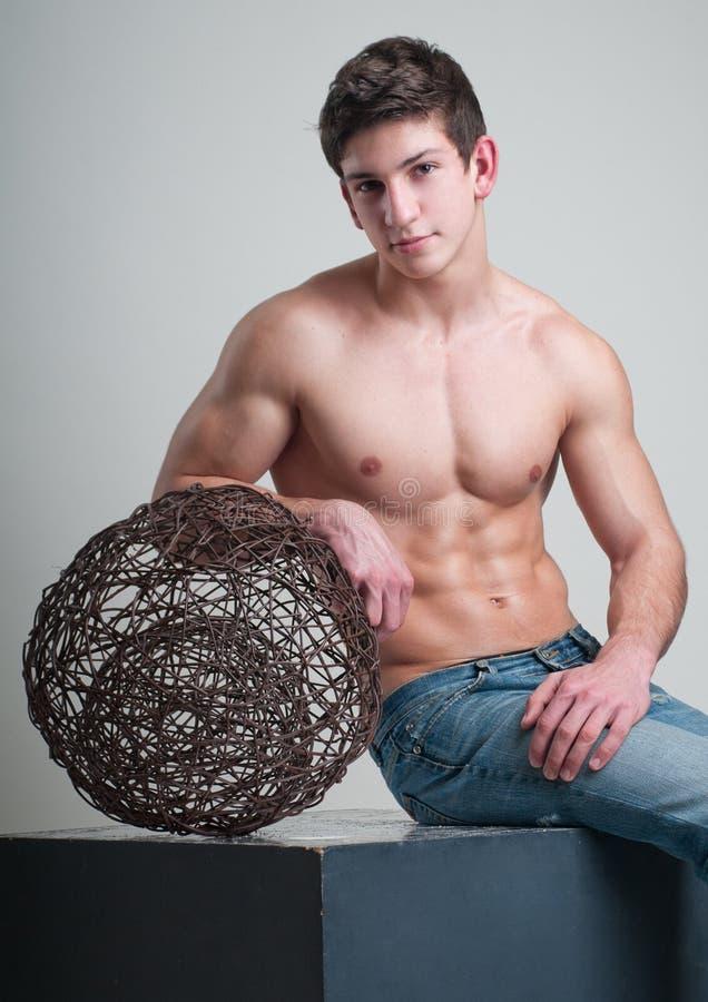 male modell royaltyfri bild