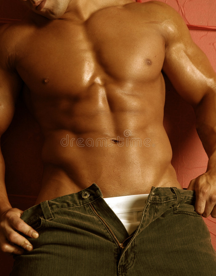 Male muscle royalty free stock photos