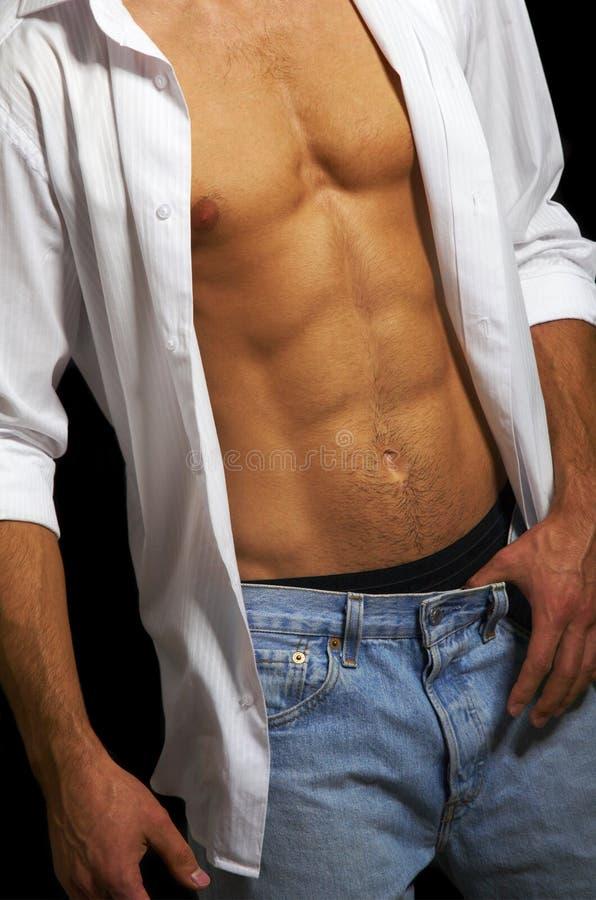 male muskulös torso royaltyfria foton