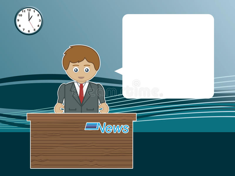Male News Reader Royalty Free Stock Photos